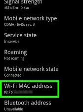 Mac Address do Android