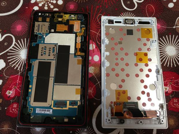 Smartphone em reparo