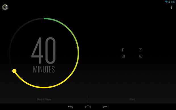 App SleepTimer em funcionamento no Android