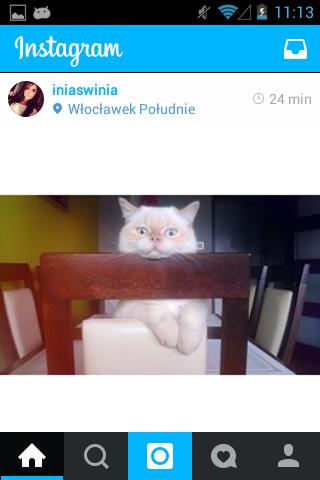 Olha só como ficou o Instagram na cor azul