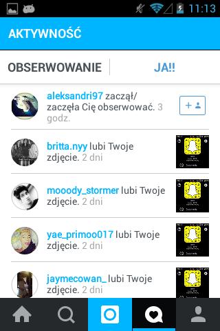 Mais uma imagem do Instagram em azul