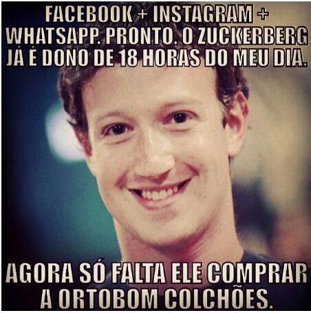 Zuckerberg agora é dono do Whatsapp