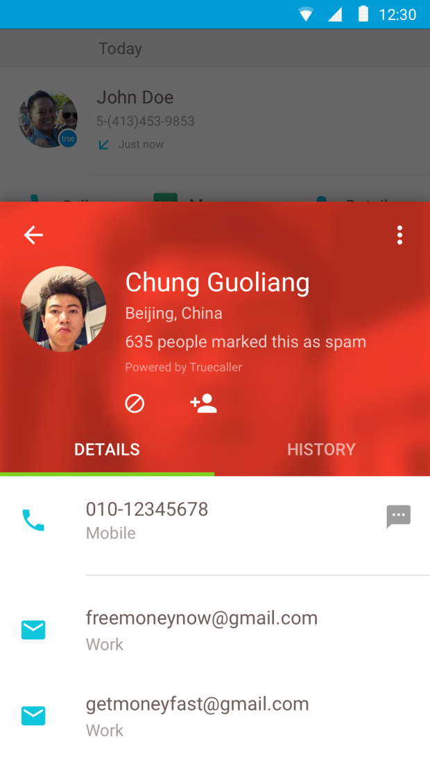 Truecaller Spam