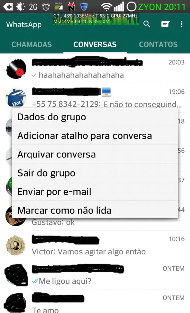 Nova opção do Whatsapp