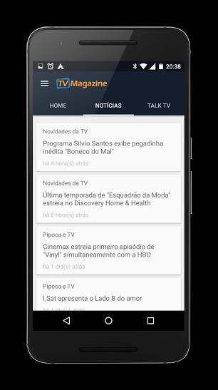 Noticias do app TV Magazine